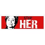 Stop Her Bumper Bumper Sticker