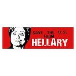Save us from Hellary Bumper Bumper Sticker