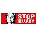 Stop Hillary Bumper Sticker Bumper Sticker