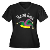Mardi Gras Jester's Hat Women's Plus Size V-Neck D