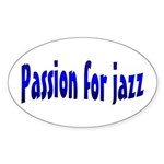 Jazz Oval Sticker