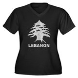 Vintage Lebanon Women's Plus Size V-Neck Dark T-Sh