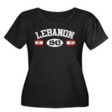 Lebanon 1943 Women's Plus Size Scoop Neck Dark T-S