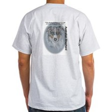 "Australian Shepherd ""Eyes"" Ash Grey T-Shirt"
