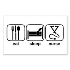 Eat Sleep Nurse 2 Rectangle Decal