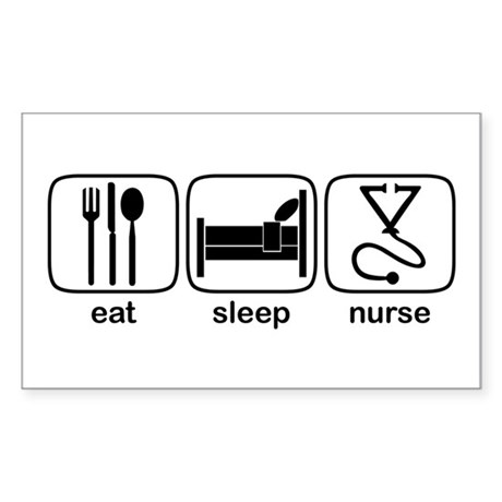 Eat Sleep Nurse 2 Rectangle Sticker