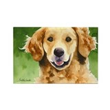 Golden Retriever 4 Rectangle Magnet