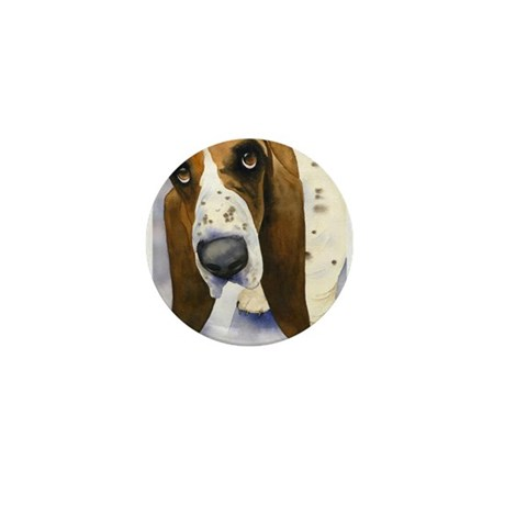 Basset Hound 3 Mini Button (10 pack)