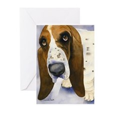 Basset Hound 3 Greeting Cards (Pk of 10)