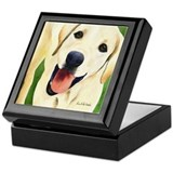 Yellow Lab 4 Keepsake Box