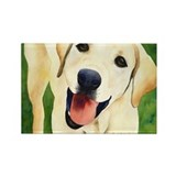 Yellow Lab 4 Rectangle Magnet
