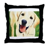 Yellow Lab 4 Throw Pillow