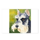 Miniature Schnauzer 3 Postcards (Package of 8)