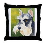Miniature Schnauzer 3 Throw Pillow