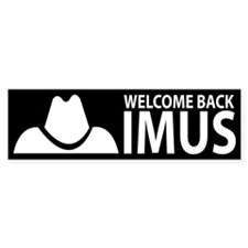 Welcome Back Imus Bumper Bumper Sticker