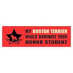 Boston Terrier Dominate Honor Student Sticker