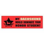 Dachshund Honor Student Domination Sticker