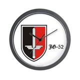 JG-52 Squadron Badge Wall Clock