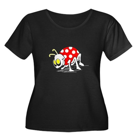 Ladybug Women's Plus Size Scoop Neck Dark T-Shirt