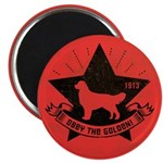 Golden Retriever Revolution - Icon Magnet