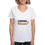 Leukemia Warrior Women's V-Neck T-Shirt