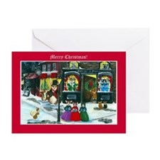 A Christmas Carol Corgi Cards Greeting Cards (Pk o