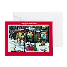 A Christmas Carol Corgi Cards Greeting Card