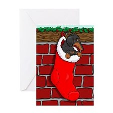 BT Dachshund Stocking Greeting Card