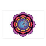 Om Sunset Lotus Postcards (Package of 8)