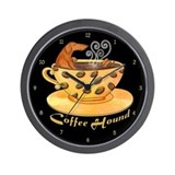 Coffee Hound Wall Clock