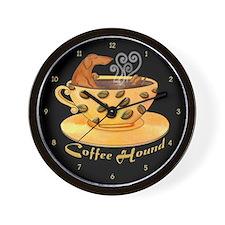 Coffee Hound Wall Clock