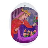 Queen Isabel of Portugal Oval Ornament