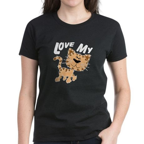 Love My Cat Women's Dark T-Shirt