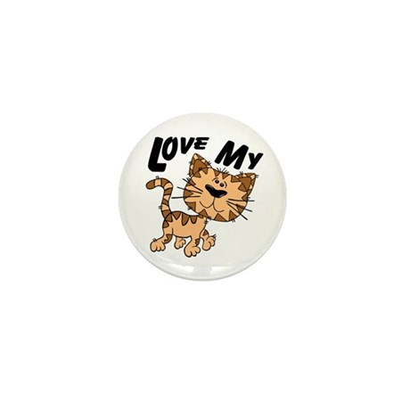 Love My Cat Mini Button (10 pack)
