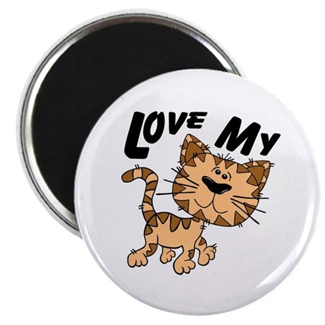 "Love My Cat 2.25"" Magnet (10 pack)"