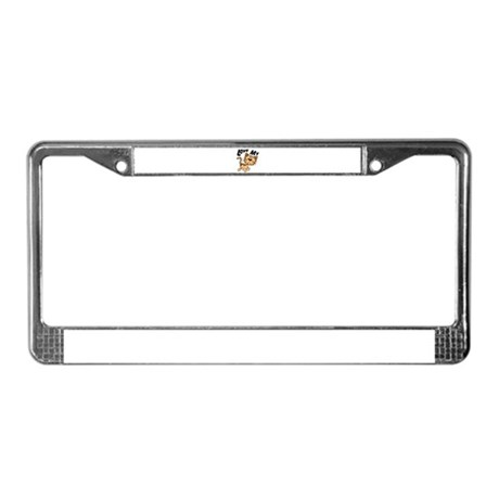 Love My Cat License Plate Frame