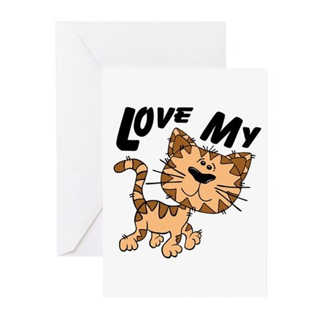 Love My Cat Greeting Cards (Pk of 20)