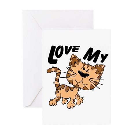Love My Cat Greeting Card