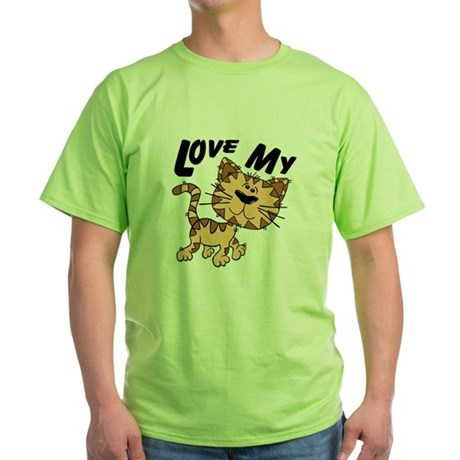 Love My Cat Green T-Shirt