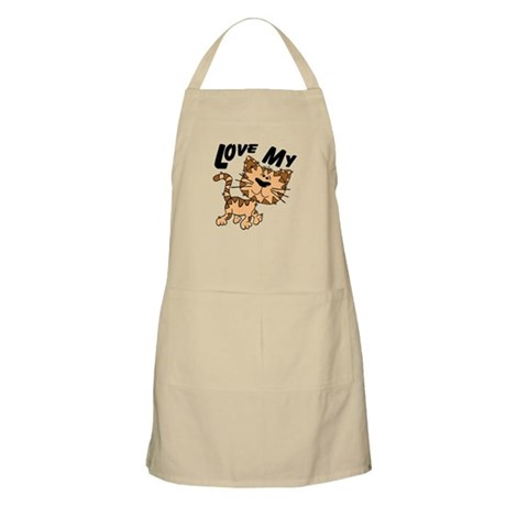 Love My Cat BBQ Apron