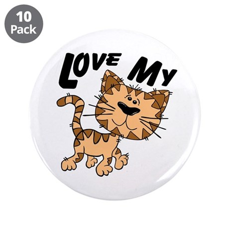 "Love My Cat 3.5"" Button (10 pack)"