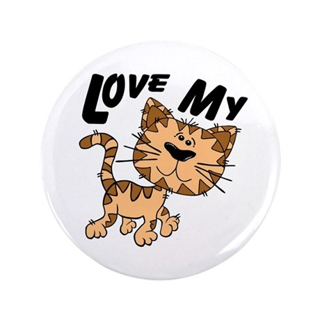 "Love My Cat 3.5"" Button (100 pack)"