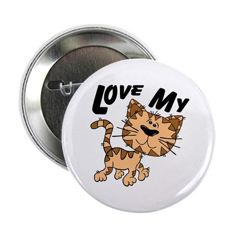 "Love My Cat 2.25"" Button"