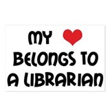 Heart Belongs Librarian Postcards (Package of 8)
