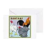 Bantam Chickens Greeting Cards (Pk of 10)