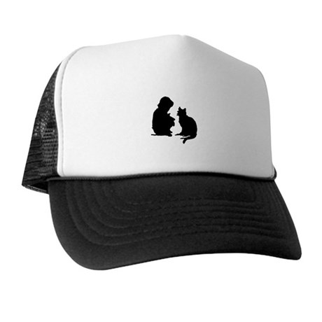 Child and Cat Trucker Hat