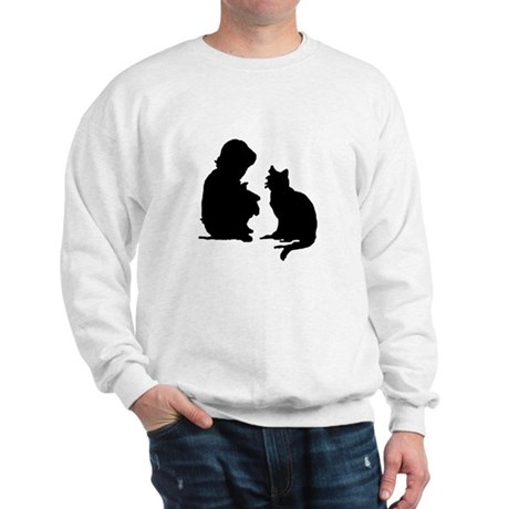 Child and Cat Sweatshirt