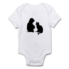 Child and Cat Infant Bodysuit