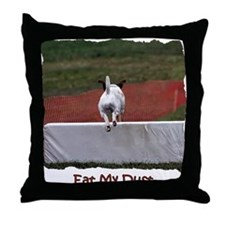 'Eat My Dust' Throw Pillow