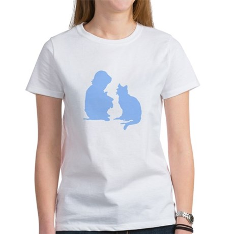 Child and Cat Women's T-Shirt